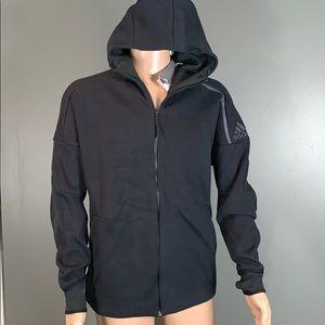 Adidas Mens Black Zip Up Hoodie SZ.L